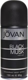 Jovan Black Musk Deodorant For Men- 150 ml