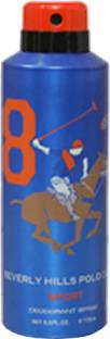 Beverly Hills Polo Club Sport 8 Deodorant Spray For Men - 175 ml