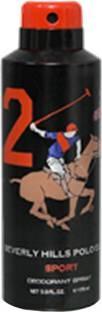 Beverly Hills Polo Club Sport 2 Deodorant For Men - 175 ml
