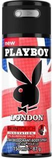 Playboy London Deodorant Spray For Men 150 ml