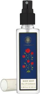 Forest Essentials Rose & Cardamom Body Mist for Unisex, 100 ML