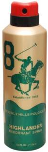 Beverly Hills Polo Club 8 Highlander Deodorant For Men - 175 ml