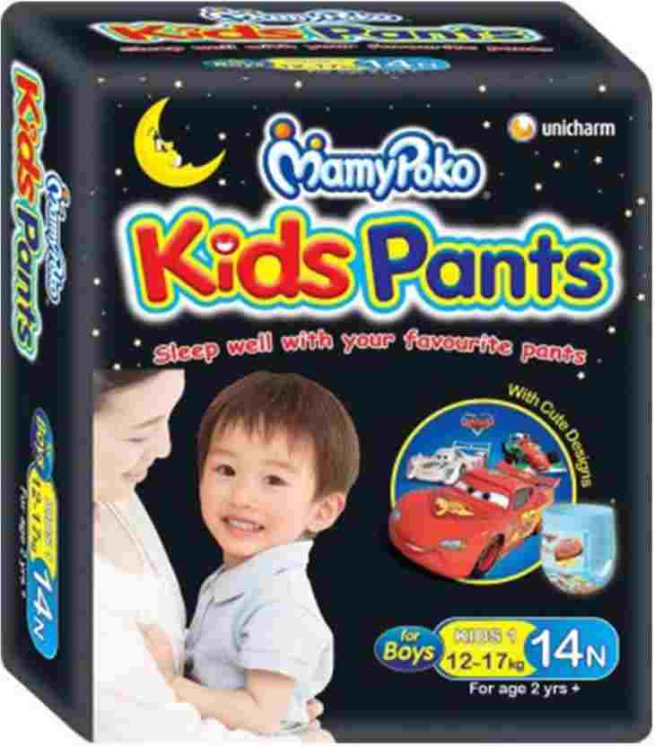 Mamy Poko Kids Pants For Boys Diapers L Diapers (14 Pieces)