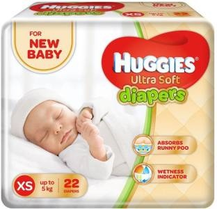 Huggies Ultra Soft XS Diapers (22 Pieces)