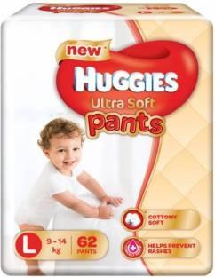Huggies Ultra Soft Pants Premium Baby L Diapers (62 Pieces)
