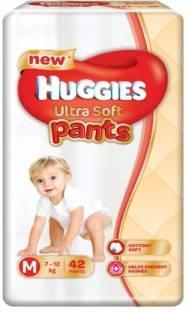 Huggies Ultra Soft Pants Premium Baby M Diapers (42 Pieces)