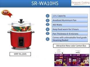 Panasonic SR-WA10HS 2.7 Litre Electric Rice Cooker