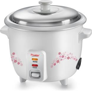 Prestige Delight PRWO 1.0 Electric Rice Cooke, 1 L (White)