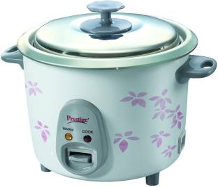 Prestige PRWO 1.4-2 Electric Rice Cooker, 1.4 L (White)