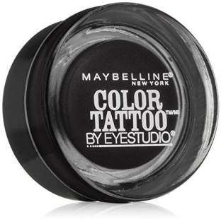 Maybelline Eye Studio Color Tattoo Leather 24 HR Cream Gel Eyeshadow, Dramatic Black 1 g(Dramatic Black)