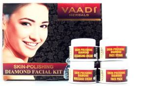 Vaadi Herbals Skin-Polishing Diamond Facial Kit 70 G (Set Of 4)