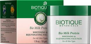 Biotique Bio Milk Protein Whitening & Rejuvenating Face Pack For All Skin Types (50gm)