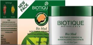 Biotique Bio Mud Youthful Firming & Revitalizing Face Pack For All Skin Types, 75g