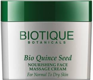 Biotique Bio Quince Seed Nourishing Face Massage Cream For Normal To Dry Skin (50gm)