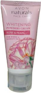 Avon Naturals Rose & Pearl Whiteing Powdery Cream (50 gm)