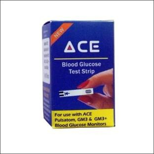 ACE Blood Glucose Test Strips (Pack of 100)