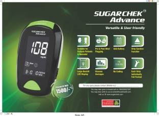 Wockhardt Sugarchek Glucometer (With 15 Test Strips)