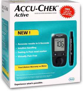 Accu-Chek Active Blood Glucose Monitor (With 10 Strips)