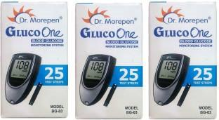 Dr. Morepen BG 03 Blood Glucose Meter (with 75 Strips)