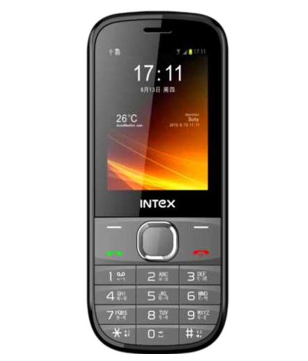 Intex JAZZ 128 MB Grey Mobile
