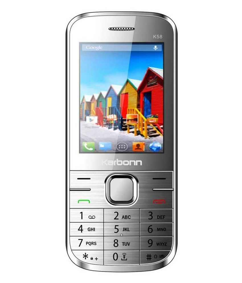 Karbonn K58 Silver Mobile