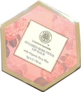 Forest Essentials Sugared Rose Petal Rose & Honey Lip Balm, 5 GM