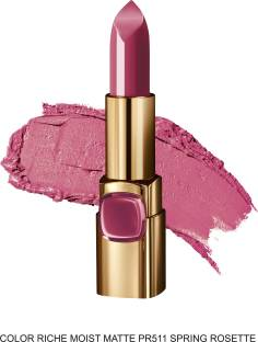 Loreal Paris Color Riche Moist Matte Lipstick, Spring Rosete PR511, 4.2gm
