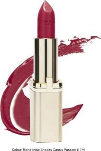 Loreal Paris Color Riche Lipstick For Women Cassis Passion 376 4.7 GM