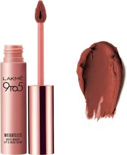 Lakme 9 to 5 Weightless Matte Lipstick Mousse Lip & Cheek Color, Burgundy Lush