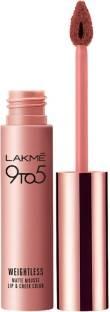 Lakme 9 to 5 Weightless Matte Lipstick Mousse Lip & Cheek Color Burgundy Lush
