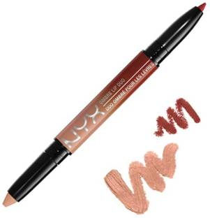 NYX Ombre Lip Duo Lipstick For Women Ginger & Nutmeg 0.59 GM