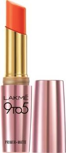 Lakme 9 to 5 Primer Matte Lipstick, MR7 Saffron Gossip