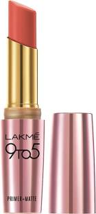 Lakme 9 to 5 Primer and Matte Lipstick Coral Date