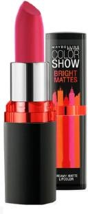 Maybelline Color Show Bright Mattes Lipstick, M214 Brilliant Red 3.9 GM
