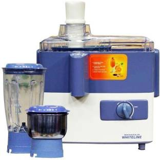 Maharaja Whiteline JX-207 450 W Juicer Mixer Grinder, 2 Jars