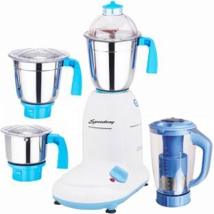 Speedway ABS Body MGJ WFJ16-121 1000 W Mixer Grinder Multicolor, (3 Jars)