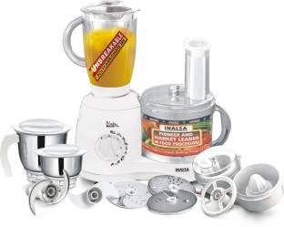 Inalsa Wonder Maxie Plus 700 W Juicer Mixer Grinder, 3 Jars
