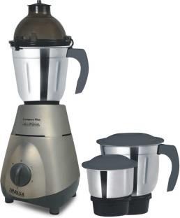 Inalsa Compact Plus 750 Watts Mixer Grinder Grey, (3 Jars)