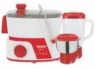 Maharaja Whiteline JMG Easy Lock 450 Watts Juicer Mixer Grinder Red & White, (2 Jars)