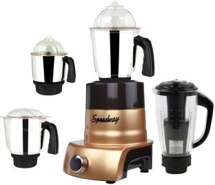 Speedway ABS Body MGJ 2017-163 1000 W Mixer Grinder(Multicolor, 4 Jars)