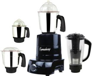 Speedway ABS Body MGJ 2017-91 750 W Mixer Grinder(Multicolor, 4 Jars)