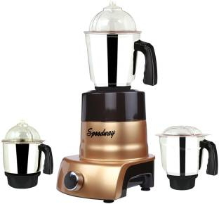 Speedway ABS Body MGJ 2017-123 600 W Mixer Grinder Multicolor, (3 Jars)