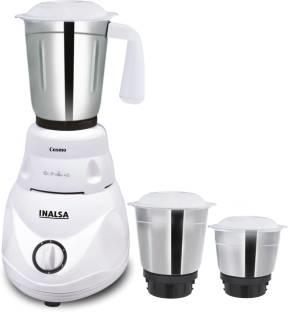 Inalsa Cosmo 550 Watts Mixer Grinder White, (3 Jars)
