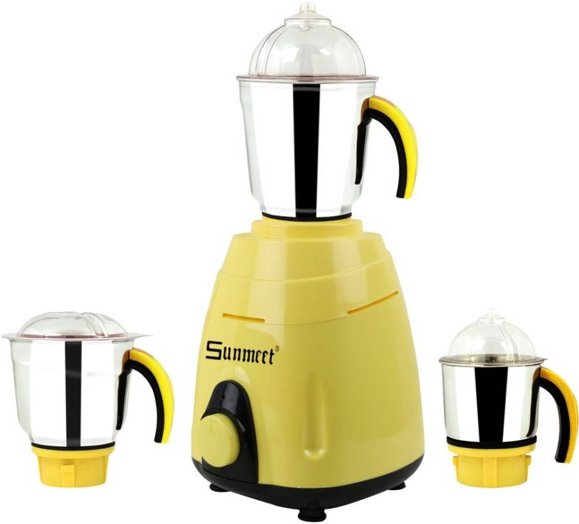 Sunmeet MG16-487 750 W Mixer Grinder, Yellow 3 Jars