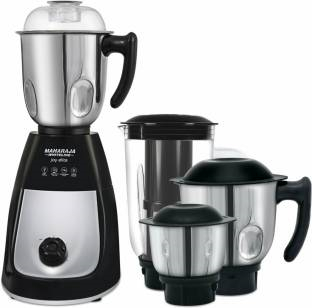 Maharaja Whiteline Mg Joy Elite MX-166 750 W Mixer Grinder Black & Silver, (4 Jars)