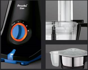 Preethi Zion Select MG-227 750 Watts Mixer Grinder Black, (4 Jars)