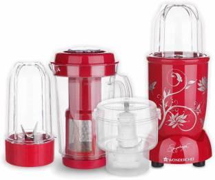 Wonderchef Nutri Blend CKM Red 400 Juicer Mixer Grinder, 3 Jars