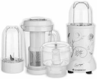 Wonderchef Nutri Blend CKM White 400 Juicer Mixer Grinder, 3 Jars
