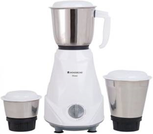 Wonderchef Prime 500 Watts Mixer Grinder White, (3 Jars)
