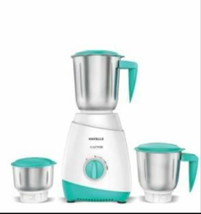 Havells Aspro 500 Watts Mixer Grinder White & Blue, (3 Jars)